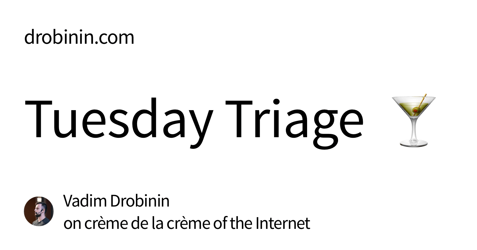 tuesday-triage-newsletter